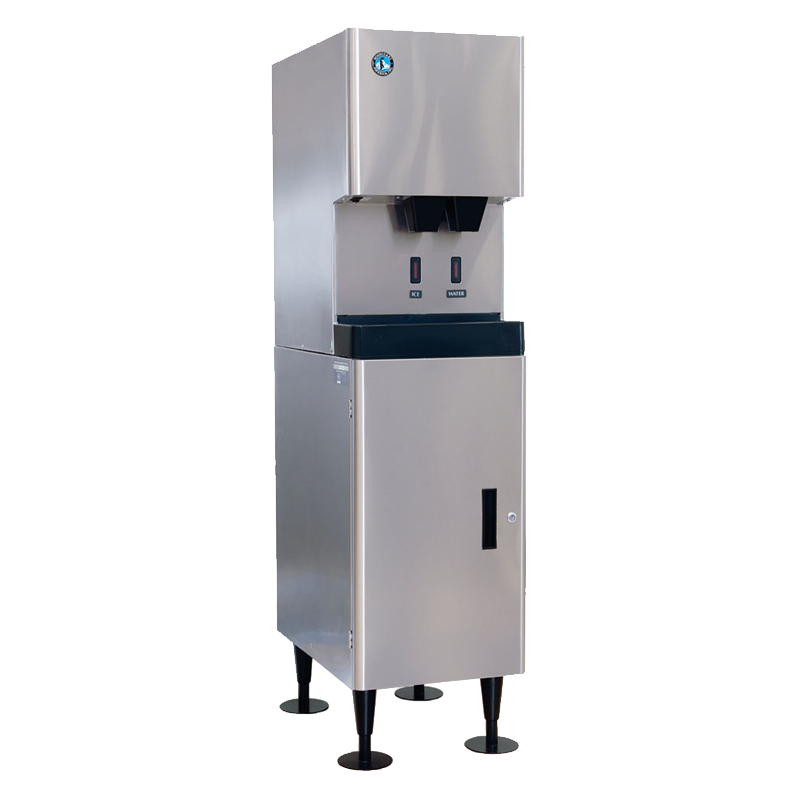 Hoshizaki-DCM-270BAH-OS-Cubelet-Air-Cooled-Hands-Free-Dispenser-Commercial-Ice-Machine-Built-in-Storage-Bin