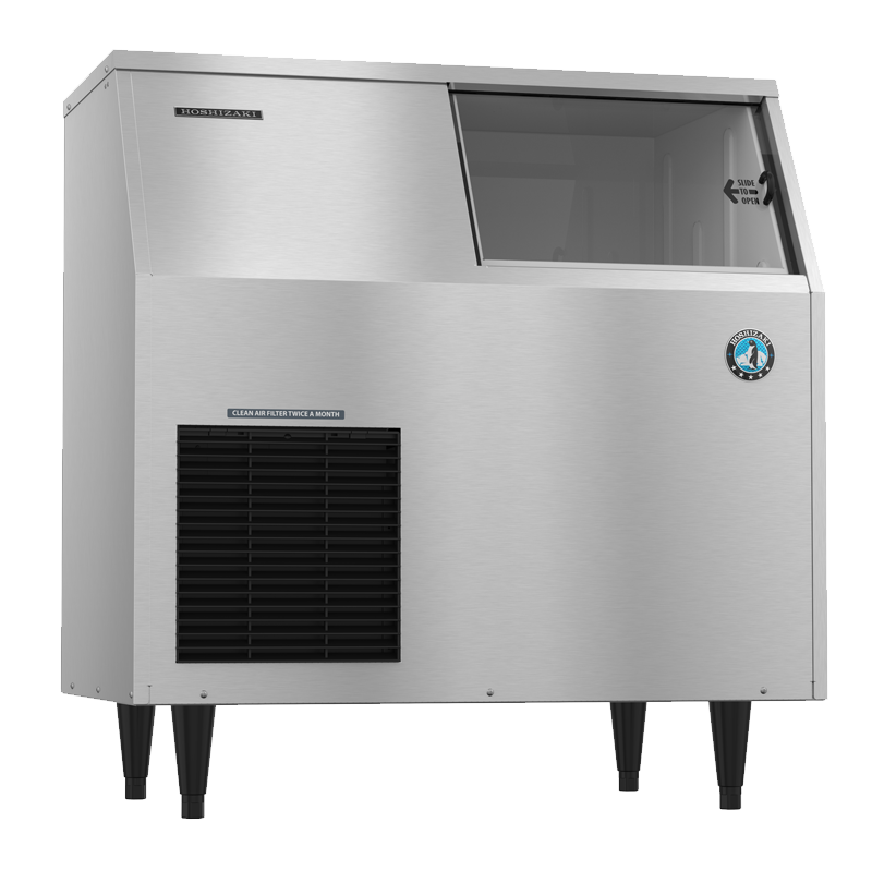 Hoshizaki-F-300BAJ-Flaker-Air-Cooled-Commercial-Ice-Machine-Built-in-Storage-Bin