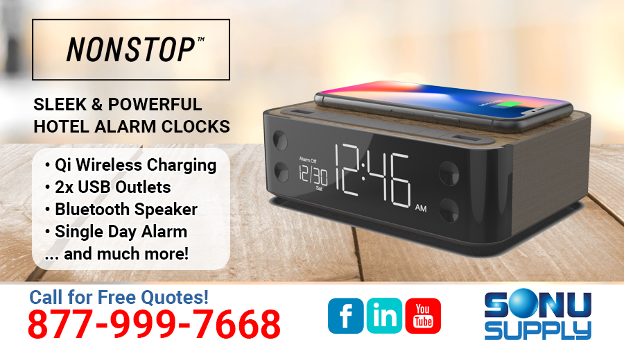 Nonstop Products Hotel Alarm Clocks